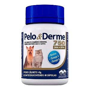 Suplemento Vitamínico Ômega Pelo E Derme 750 - 60 Cápsulas Vetnil