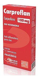 Anti-inflamatório Cães Carproflan 100mg 14 Comprimidos - Agener