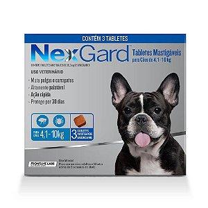 Nexgard Antipulgas E Carrapatos Cães 4,1 A 10kg 3 Tabletes - Boehringer