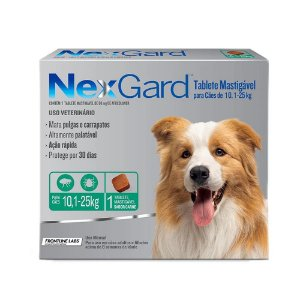 Nexgard Antipulgas E Carrapatos Cães 10,1 A 25kg 1 Tablete - Boehringer