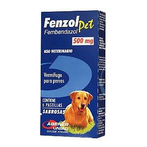 Vermífugo Fenzol Pet 500mg 6 Comprimidos - Agener