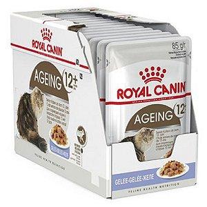 Ração Úmida Royal Canin Ageing 12+ Gatos Acima 12 Anos Combo 12un 85g Cada