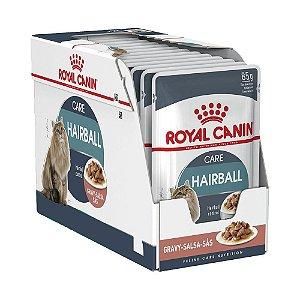 Ração Úmida Royal Canin Hairball Care Controle das Bolas de Pelo Wet Combo 12un 85g Cada
