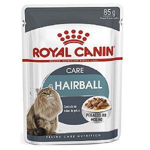 Ração Úmida Royal Canin Hairball Care Controle das Bolas de Pelo Wet 85g