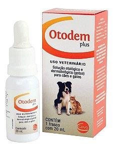 Solução Otológica Otodem Plus 20ml - Ceva