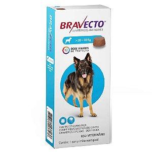 Bravecto comprimido Para Cães 20 A 40kg - Antipulgas e Carrapatos