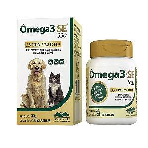 Suplemento Vitamínico Ômega 3 + SE 550 30 cápsulas - Vetnil