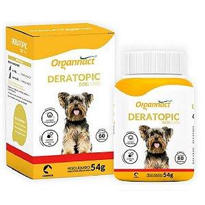Suplemento Vitamínico Deratopic Dog Tabs 54g - Organnact