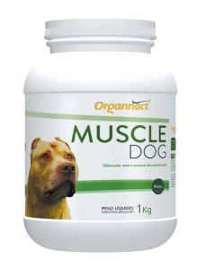 Suplemento Muscle Dog Massa Muscular 1kg - Organnact