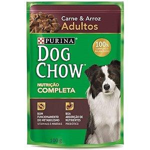 Alimento Úmido Para Cães Adulto Sachê Carne 100g - Dog Chow