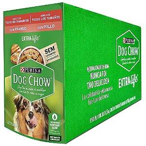 Ração Úmida Dog Chow Sachê Cães Adultos Sabor Frango Todos os Tamanhos Caixa 15un 100g Cada - Purina