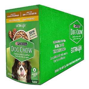 Ração Úmida Purina Dog Chow Sachê Cães Adultos Raças Pequenas Sabor Cordeiro Caixa 15un 100g Cada