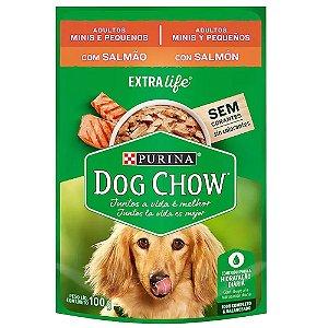Alimento Úmido Para Cães Adulto Sachê Salmão Raças Pequenas 100g - Dog Chow