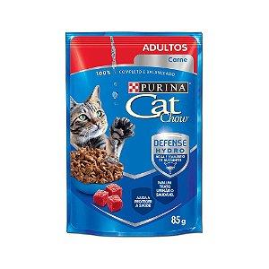 Alimento Úmido Para Gatos Adultos Sachê Carne 85g - Cat Chow