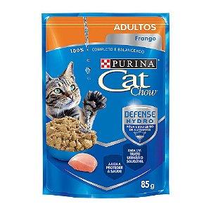 Alimento Úmido Para Gatos Adultos Sachê Frango 85g - Cat Chow
