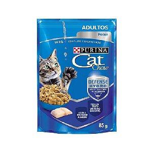 Ração Úmida Cat Chow Sachê Gatos Adultos Sabor Peixe 85g - Purina