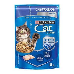Alimento Úmidos Para Gatos Castrados Sachê Peixe Combo 15un 85g Cada - Cat Chow