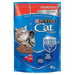 Alimento Úmido Para Gatos Filhotes Sachê Carne 85g - Cat Chow