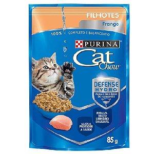 Ração Úmida Cat Chow Sachê Gatos Filhotes Sabor Frango 85g - Purina