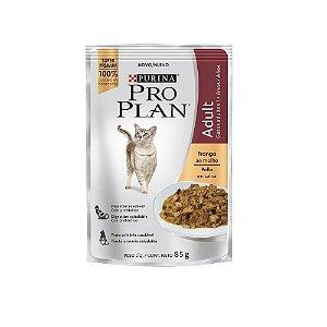 Alimento Úmido Para Gatos Adultos Sachê Frango Combo 15un 85g Cada - Pro Plan