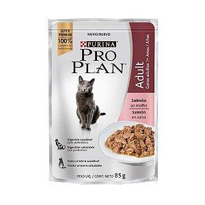 Alimento Úmido Para Gatos Adultos Sachê Salmão Combo 15un 85g Cada - Pro Plan
