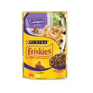 Alimento Úmido Para Gatos Sachê Cordeiro 85g - Friskies