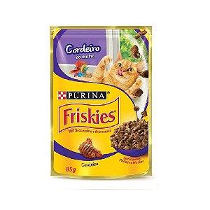 Alimento Úmido Para Gatos Sachê Cordeiro Combo 15un 85g Cada - Friskies