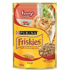 Ração Úmida Friskies Sachê Gatos Adultos Sabor Frango ao Molho 85g - Purina
