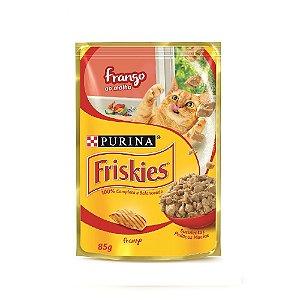 Alimento Úmido Para Gatos Sachê Frango Combo 15un 85g Cada - Friskies