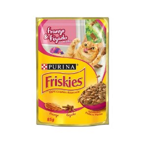 Alimento Úmido Para Gatos Sachê Frango e Fígado 85g - Friskies