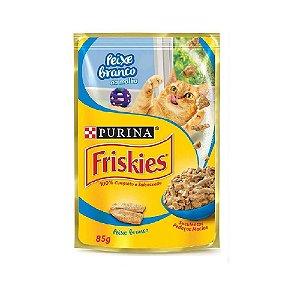 Alimento Úmido Para Gatos Sachê Peixe Branco Combo 15un 85g Cada - Friskies