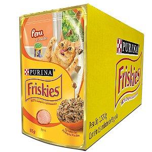Ração Úmida Friskies Sachê Gatos Adultos Sabor Peru ao Molho Caixa 15un 85g Cada - Purina