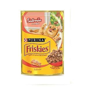 Alimento Úmido Para Gatos Sachê Salmão Combo 15un 85g Cada - Friskies