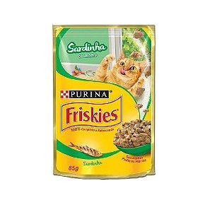 Alimento Úmido Para Gatos Sachê Sardinha Combo 15un 85g Cada - Friskies