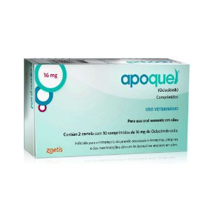 Tratamento Coceira Apoquel 16mg 20 Comprimidos - Zoetis