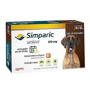 Simparic Antipulgas 120mg 40,1 a 60kg Combo 3 Tabletes - Zoetis
