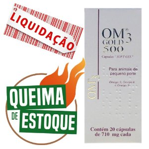 Suplemento Vitamínico OM3 Gold 500 20 Cápsulas - Cepav