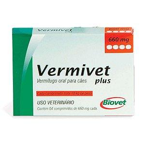 Vermífugo Oral Vermivet Plus 660mg 4 Comprimidos - Biovet