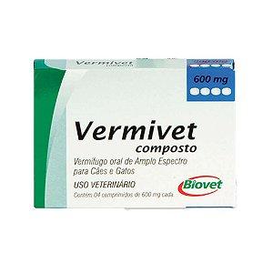 Vermífugo Vermivet Composto 10kg 4 Comprimidos - Biovet