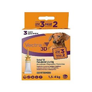 Antipulgas Vectra 3D Cães 1,5 A 4kg Pague 2 Leve 3 - Ceva