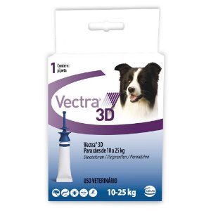 Antipulgas e Carrapaticida Vectra 3D Cães 10 A 25kg - Ceva