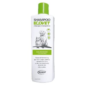 Shampoo Antipulgas e Carrapaticida Cães e Gatos 250ml - Ecovet