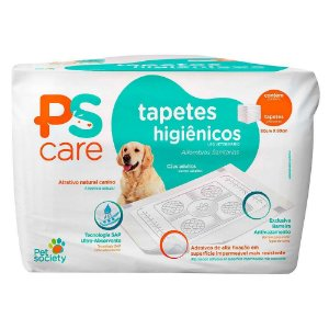 Tapete Higiênico PS Care 60x80 30un - Pet Society