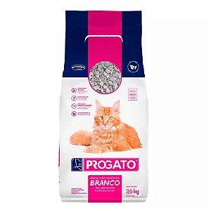 Areia Higiênica Branca Para Gatos 3,6kg - ProGato