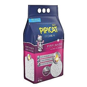 Areia Higiênica Pipicat Premium Perfumada 4kg - Kelco