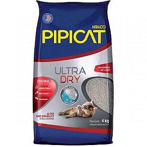 Areia Higiênica Pipicat Ultra Dry 4kg - Kelco