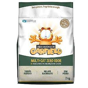 Areia Higiênica Grão Fino Natural Biodegradável 2kg - Garfield