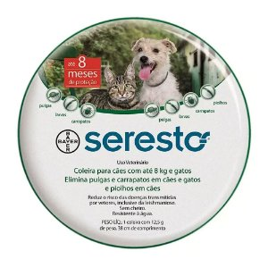 Coleira Seresto P 38cm Pulgas, Carrapatos e Leishmaniose - Bayer