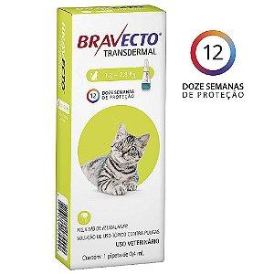Bravecto Transdermal Gatos 1,2 a 2,8kg Antipulgas - MSD