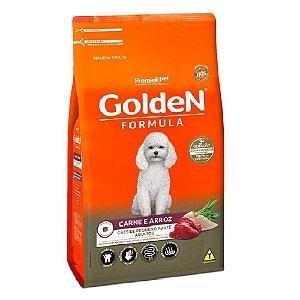 Ração Premium Especial Golden Fórmula Cães Adultos Raças Pequenas Sabor Carne e Arroz Mini Bits 1kg - PremierPet